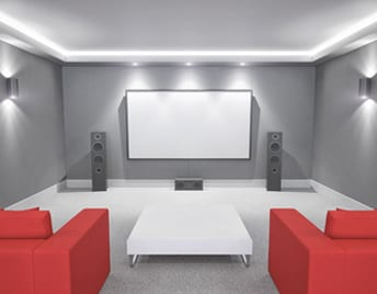 White Home Cinema system